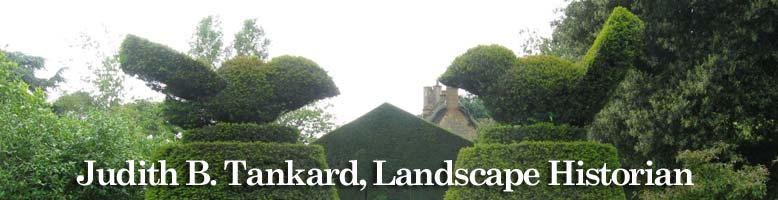 Hidcote topiary of two birds